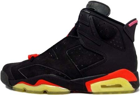 Air Jordan Original / OG 6 (VI) Black / Black - Infra Red