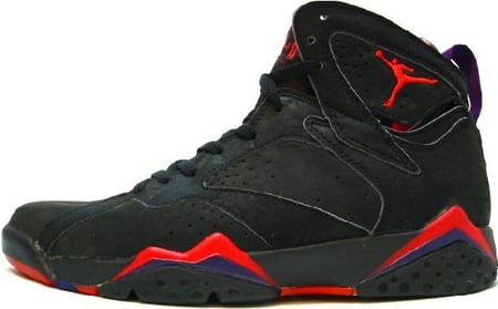 Air Jordan Original / OG 7 (VII) Black / Dark Charcoal - True Red