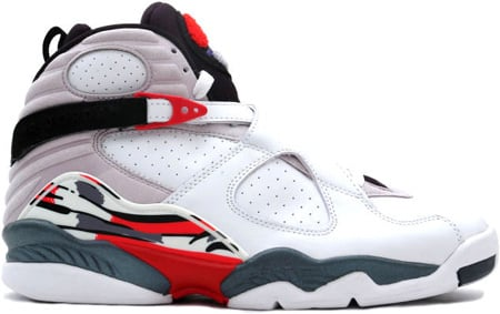 Air Jordan 8 (VIII) Retro White / Black - True Red