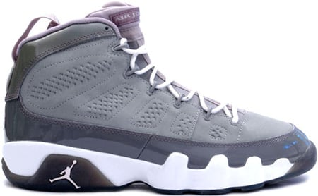 Air Jordan 9 (IX) Retro Cool Grey Medium Grey / White - Cool Grey