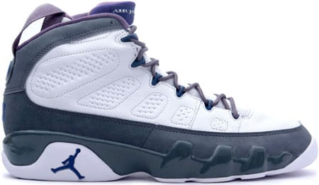 Air Jordan 9 (IX) Retro White / French Blue - Flint Grey