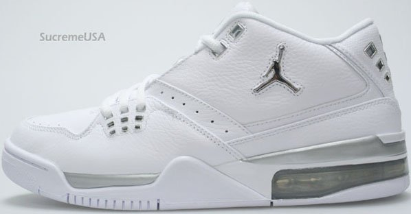 cheap for discount 4ed9a 690e4 Air Jordan Flight 23 White   Metallic Silver - White