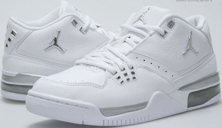 Air Jordan Flight 23 White / Metallic Silver - White