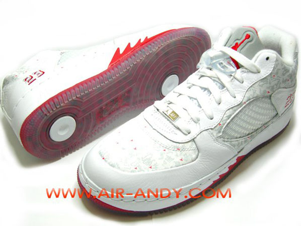 Air Jordan Force Fusion 5 (V) Low White / Varsity Red Is It The Shoes