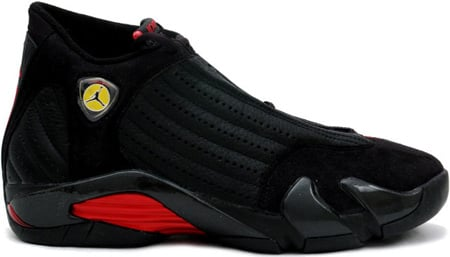 black and red jordan 14