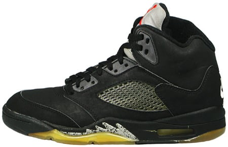 Air Jordan Original - OG 5 (V) Black / Black - Metallic Silver