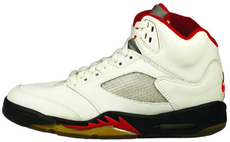 Air Jordan Original - OG 5 (V) White / Black - Fire Red