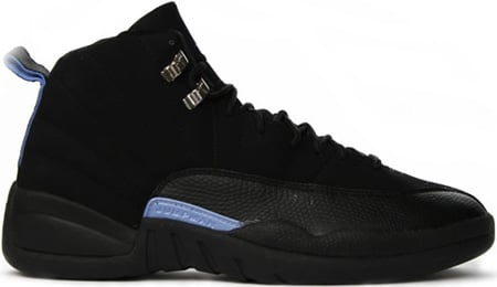 Air Jordan 12 (XII) Retro Nubuck Black / White - University Blue