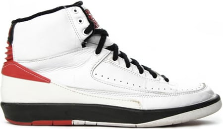 hot sales 205d3 58d88 Air Jordan 2 (II) 1994 Retro White – Red – Black