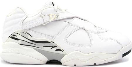 Air Jordan 8 (VIII) Retro Low White / Metallic Silver