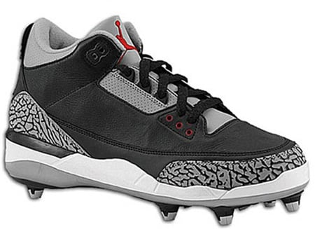 Air Jordan III (3) Black / Cement - Cleats