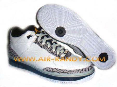 Air Jordan Force III (3) Fusion - White / Cement Grey / Blue