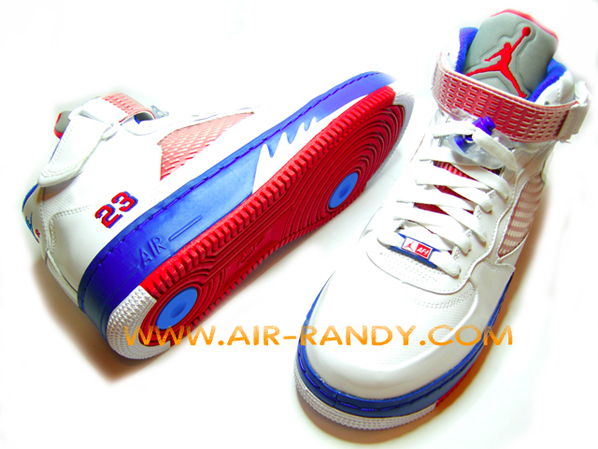 jordan 5 red white blue