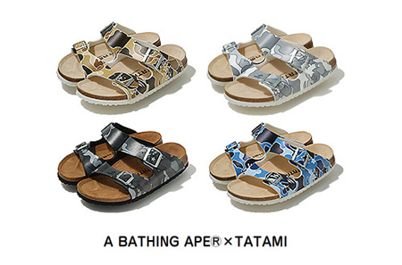 A Bathing Ape x Tatami Sandals
