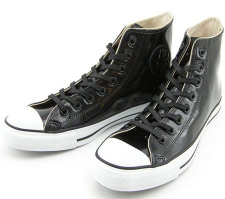 converse all star leather. beams x converse all star hi patent leather - black and white h