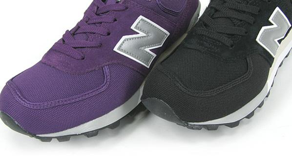 New Balance CM576 Canvas - Black and Purple