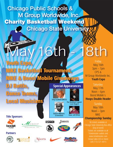 Chicago CPS Charity Basketball Weekend at Chicago State University May 16th-18th