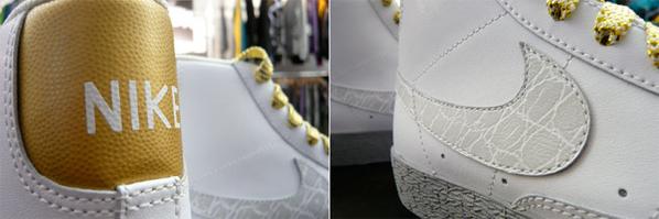 Nike Womens Blazer High - Metallic Croc