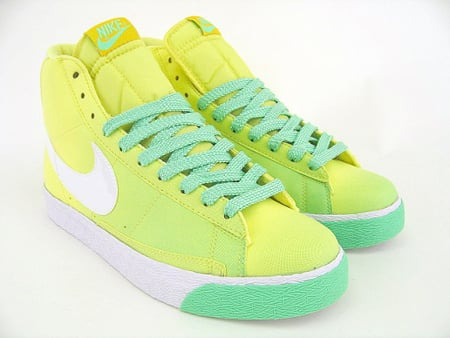 nike blazers sb neon green