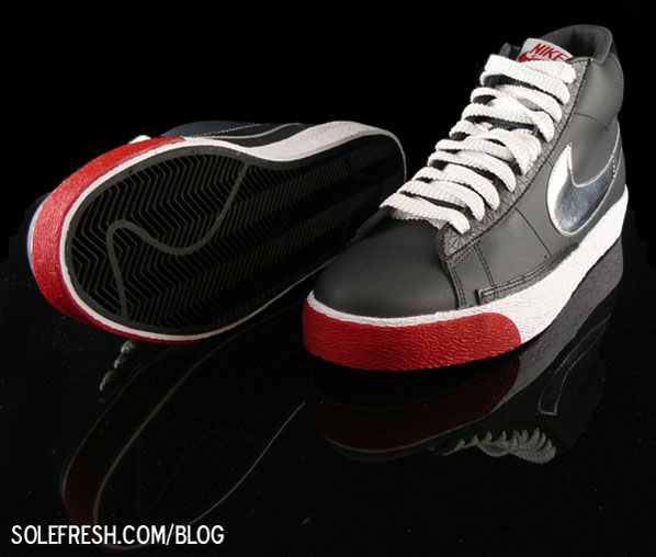 Nike Blazer High - Red / Black / Silver