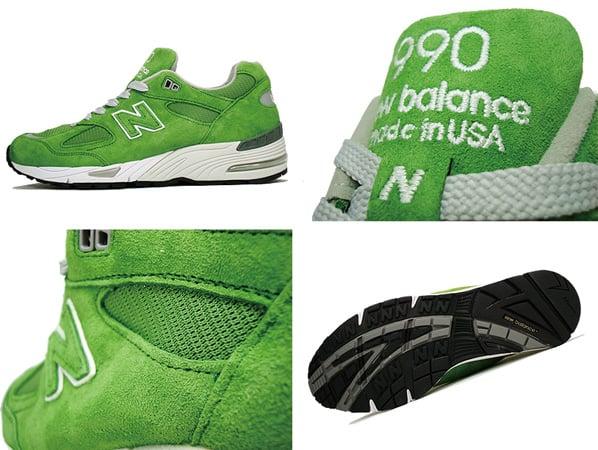 New Balance M990 Light Green
