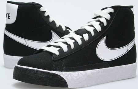 nike blazer black and white