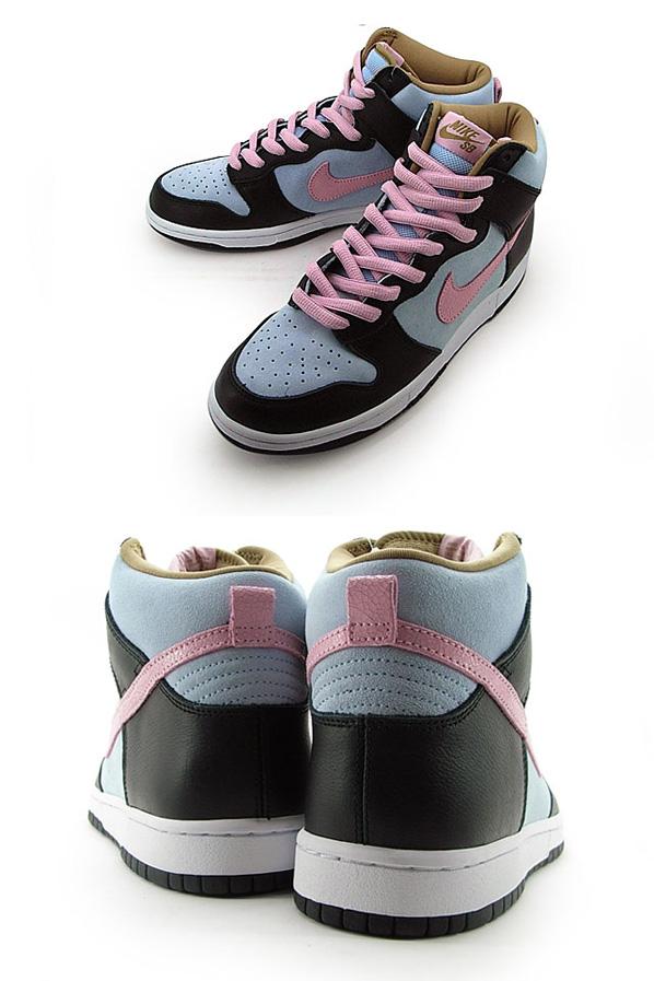 Nike SB Dunk High - Ice Blue / Pink