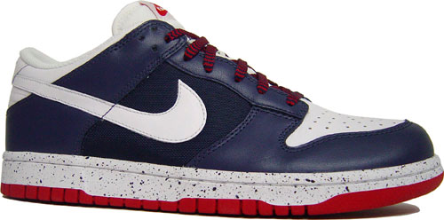 Nike Dunk Low Midnight Navy/White-Varsity Red at Purchaze
