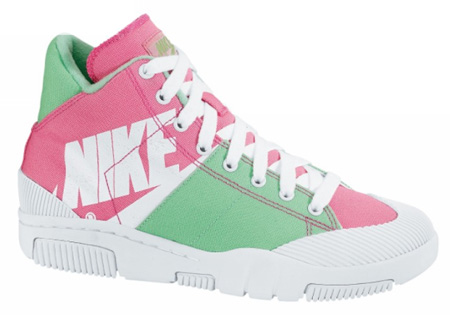 Nike Women's Outbreak High Retro - Dark Pink / White / Bright Green / Spark