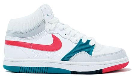 Nike Womens Court Force High Basic - White / Pink / Teal