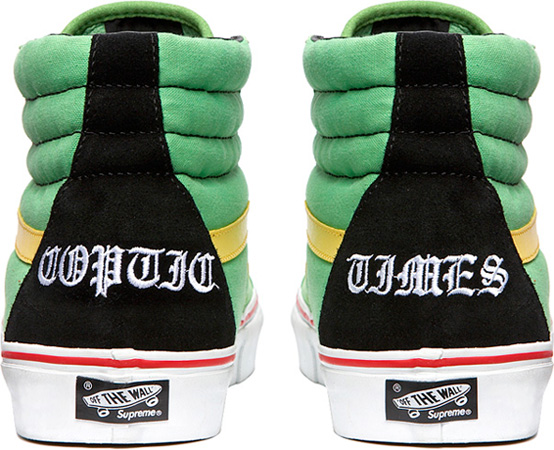 Vans Sk8 Hi x Bad Brains x Supreme
