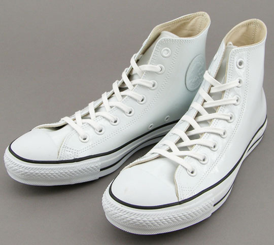 Beams X Converse All Star Hi Patent Leather - Black and White