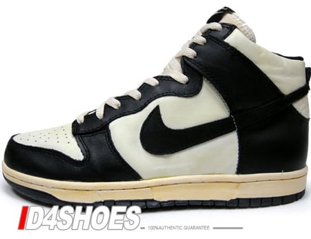Nike Dunk High Vintage - White / Black