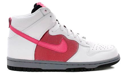 Nike Womens Dunk High - White / Dark Pink / Pink Clay