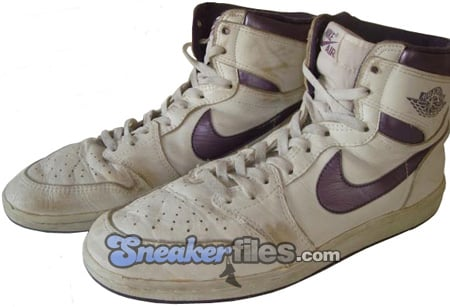 Air Jordan Original 1 (I) White / Metallic Purple