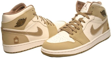 Air Jordan 1 (I) Retro Armed Forces Military Pearl White / Hay / Walnut