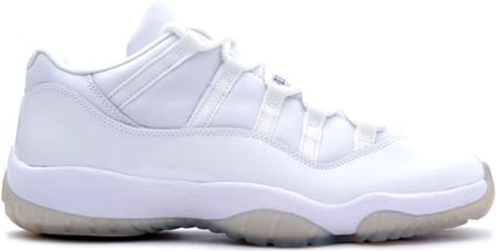 Air Jordan 11 (XI) Retro Low White / Light Zen Grey