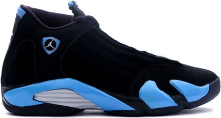 black and blue jordan 14