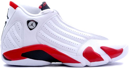 Air Jordan 14 (XIV) Retro White / Black - Varsity Red