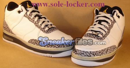 Air Jordan III (3) Force Fusion - White / Silver / Black / Maize