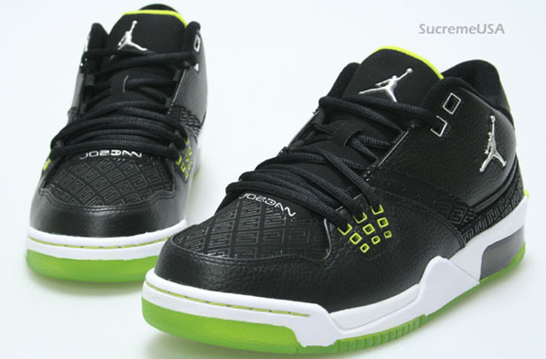 new concept 8b8c5 adaf7 Air Jordan Flight 23 Black   Metallic Silver - Bright Cactus - White