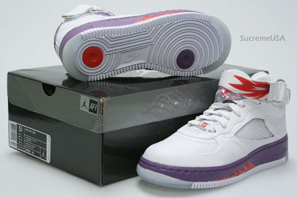 Air Jordan Force Fusion 5 (V) GS White / Sunburst - Grey Violet