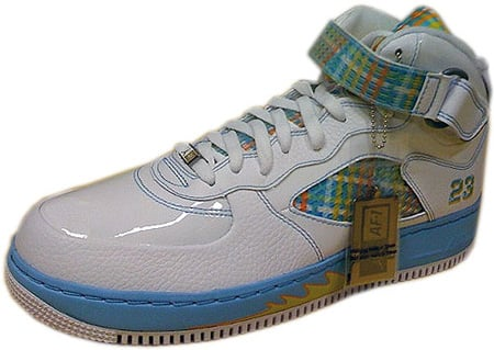 Air Jordan Force Fusion 5 (V) White / Orange Peel - Blue Chill -