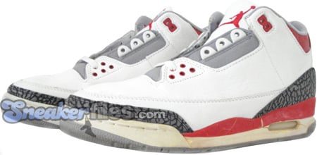 Air Jordan Original - OG 3 (III) White / Fire Red