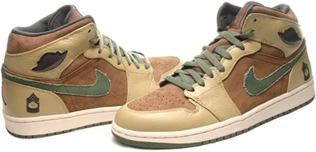 Air Jordan 1 (I) Retro Armed Forces Military Medium Brown / Urban Haze - Hay - Anthracite