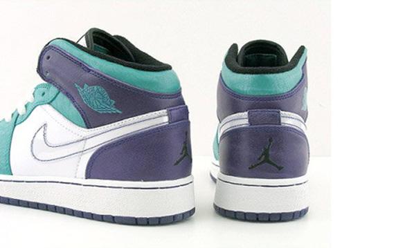 Air Jordan I (1) GS - Grape / Emerald Green / White