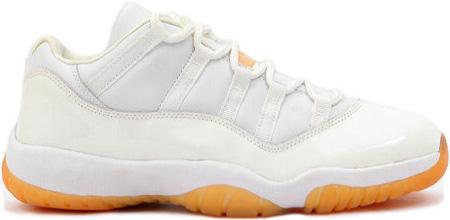 Air Jordan 11 (XI) Retro Low Womens White / Citrus | SneakerFiles