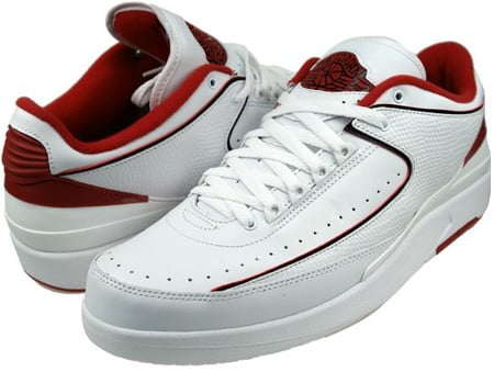 Air Jordan 2 (II) Retro Low White   Black - Varsity Red  6a90a67e4