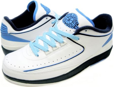 new style 9a051 adf55 Air Jordan 2 (II) Retro Low White / University Blue - Black ...