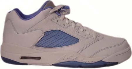 Air Jordan 5 (V) Retro Womens Low White / University Blue - Team Red